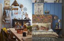 Blue Bohemian Interior Design Vintage Style