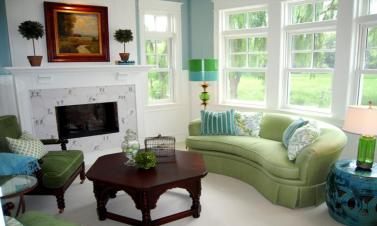 Blue Green Living Rooms Exotic House Interior Designs Room