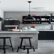 Boho Living Room Industrial Kitchen Design Small
