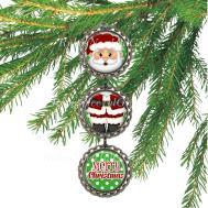 Bottle Cap Ornaments Santa Claus