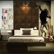 Boys Bedroom Black Wall Art Decor Ideas Interior