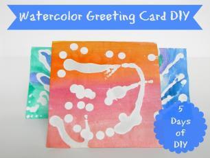 Brashear Kids Watercolor Greeting Card Diy