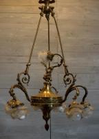 Brass Chandelier Putti Lighting