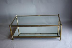 Brass Glass Coffee Table Home Decor 1405