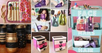 Brilliant Easy Diy Makeup Storage Ideas Cute