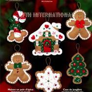 Bucilla Gingerbread House Pce Felt Christmas Ornament
