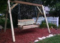 Build Diy Frame Porch Swing Stand Pdf Plans