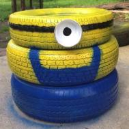 Build Minion Flower Planter Out Used Tires