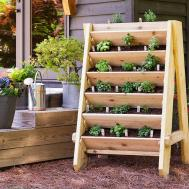 Build Vertical Herb Lettuce Planter
