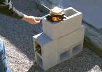 Build Your Own Rocket Stove Few Cinder Blocks