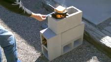 Build Your Own Rocket Stove Few Cinder Blocks