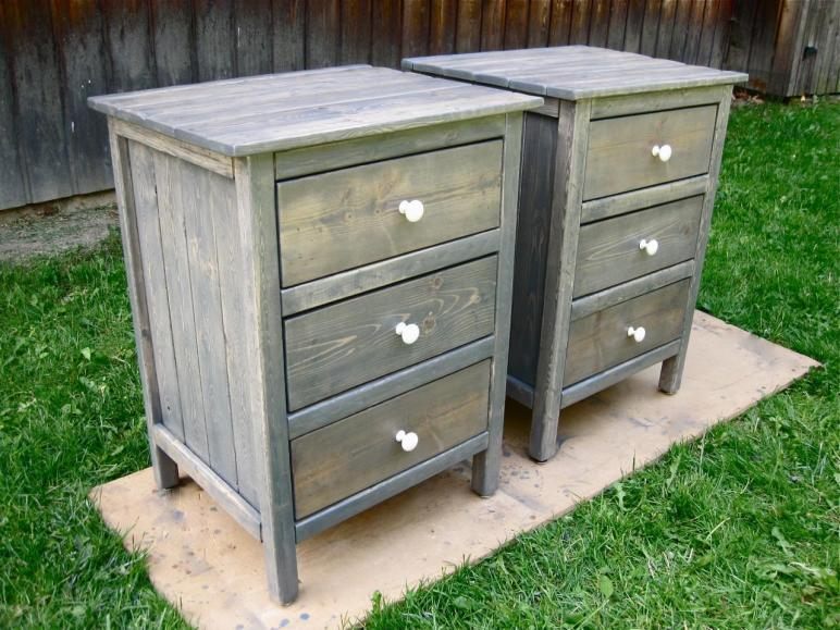 Building Rustic Wood Nightstand Home Design Ideas