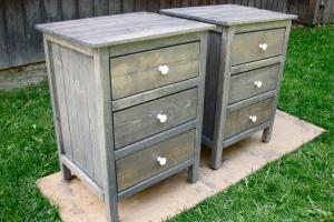 Building Rustic Wood Nightstand Home Design Ideas