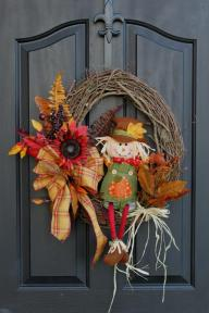 Burlap Wreath Etsy Fall Wreaths Door Oursentiments