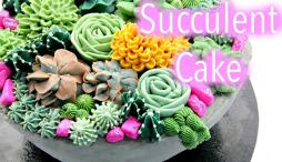 Buttercream Succulent Cake Decorating Tutorials