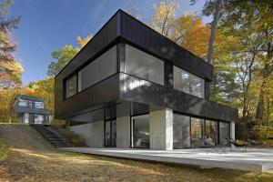 Cantilever Lake House Birdseye Design Archdaily