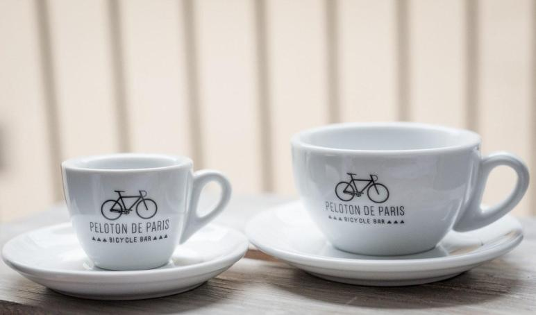 Cappuccino Cup Saucer Peloton Paris