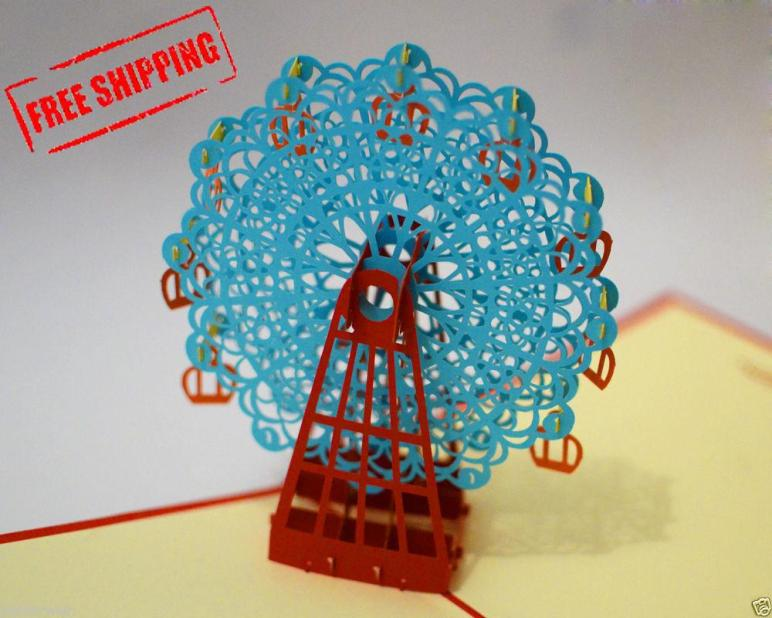 Card Ferris Wheel Handmade Christmas Gift