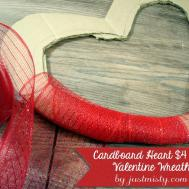 Cardboard Heart Diy Valentines Wreath Tutorial
