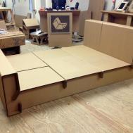 Cathedral Dimly Lit Saga Cardboard Bed