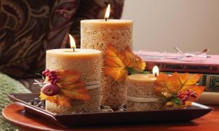 Centerpiece Kitchen Table Candle