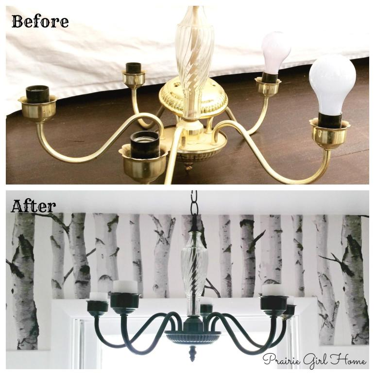 Chandelier Before After Prairie Girl Home