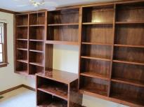Charming Book Shelves Exposed Handmade Built