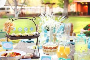 Charming Yellow Blue Easter Brunch Entertaining