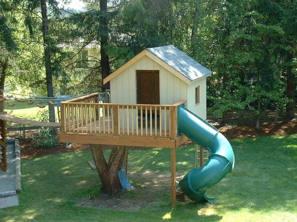 Cheap Tree House Plans New Backyard Kits Design ...