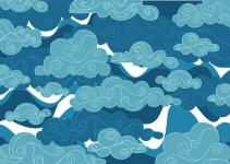 Chinese Clouds Vector Art Stock