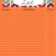 Christmas Card List Sales Report Template