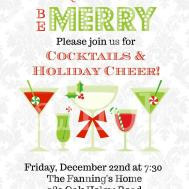 Christmas Cocktails Invitation Print Holiday Party