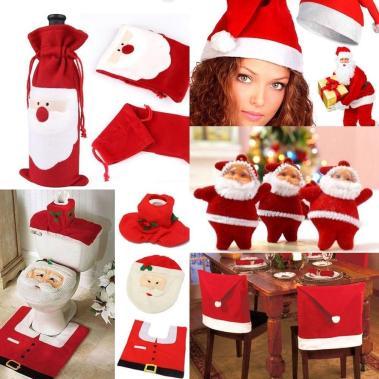 Christmas Decorations Happy Santa Chair Toilet Giftbag