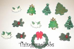 Christmas Greens Trees Wreath Holly Themed Craft