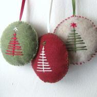 Christmas Ornament Set Felt Handmade Makecreatenyc