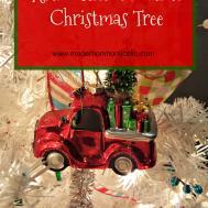 Christmas Tree Decor Blog Hop Retro Themed White