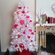 Christmas Tree Market Flocked White Fir