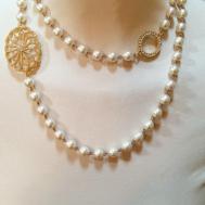 Classic Design Faux Pearl Necklace June Sablan Designs