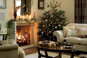 Classical Living Room Christmas Tree Decorating Ideas