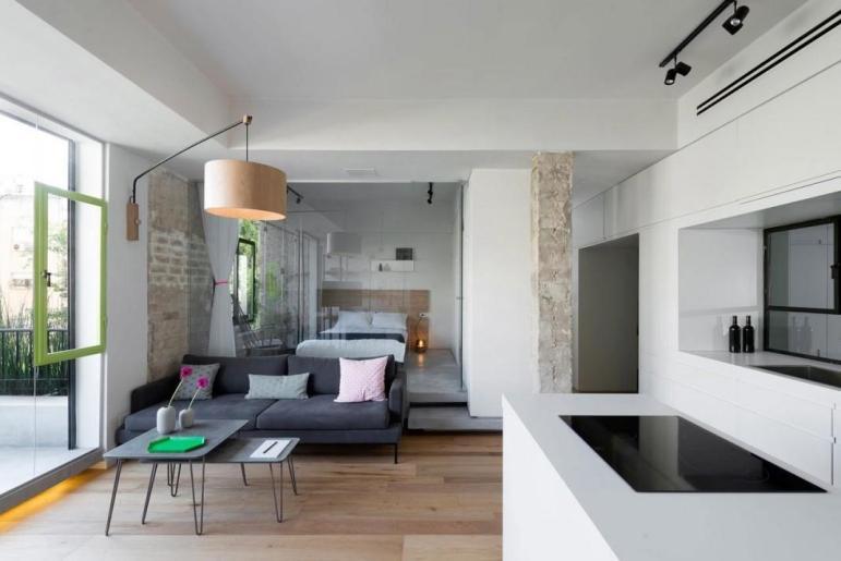 Clean Minimal Renovation Small Tel Aviv Apartment