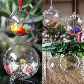 Clear Fillable Candy Box Christmas Bauble Xmas Tree
