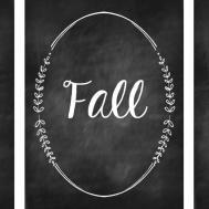 Clipboard Art Fall Yall Chalkboard Printable