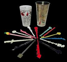 Cocktail Recipe Shaker Swizzle Sticks Chairish