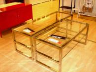 Coffee Table Clear Minimalist Glass Triangular Designs
