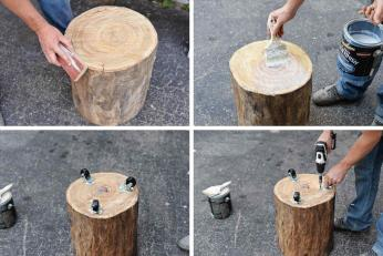Collection Tree Diy Wood Stump Projects Side