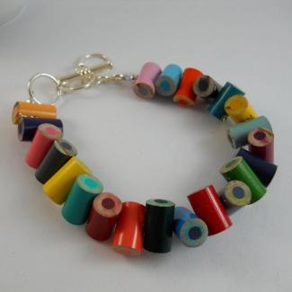 Colored Pencil Beaded Bracelet Jewelry Charm