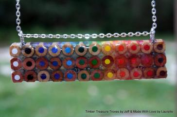 Colored Pencil Pendant Jewelry Coloring