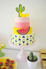 Colorful Modern Cactus Fruit Kids Party Best Friends
