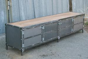 Combine Industrial Furniture Modern Console