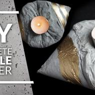 Concrete Candle Holder Diy Crafts Projects